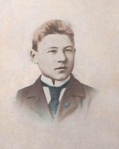 Wilhelm Anders Back aged 16 in 1903